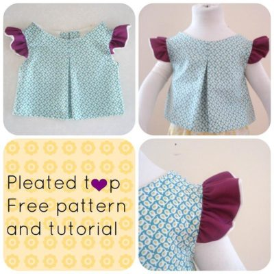 FREE SEWING PATTERN:  Pleated top