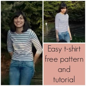 FREE SEWING PATTERN: Easy t-shirt FOR WOMEN