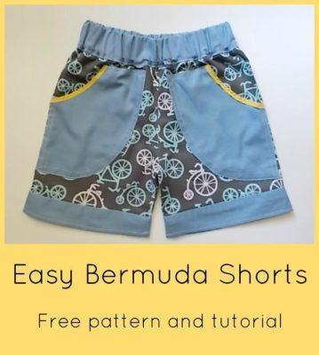 FREE SEWING PATTERN: Easy Bermuda Shorts