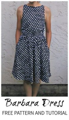 FREE SEWING PATTERN:  Barbara Dress pattern