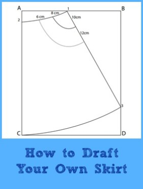 Drafting Tutorial:  A-line Skirt