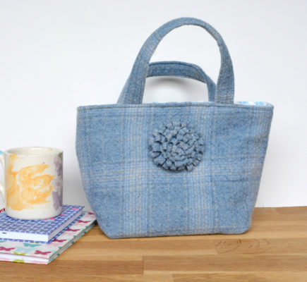 Tweed tote bag by Vicky Myers creations