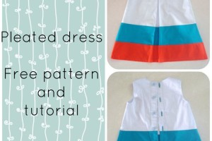 FREE SEWING PATTERN:  The pleated dress