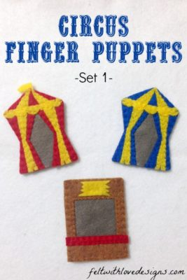 Circus Finger Puppets Set 1