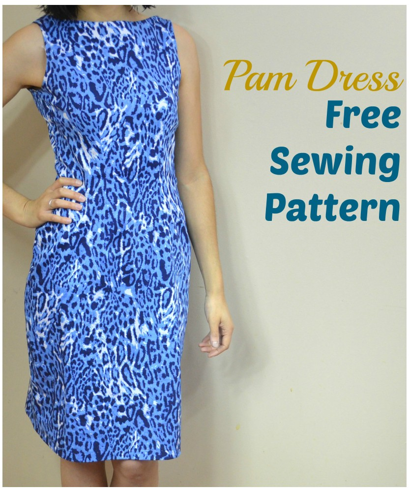 FREE SEWING PATTERN:  Pam Dress