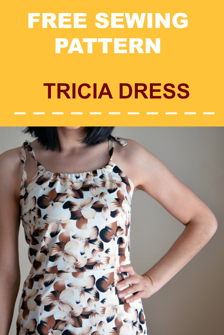 FREE SEWING PATTERN:  Tricia Dress updated