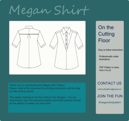 New Pattern for Sale: The Megan Shirt