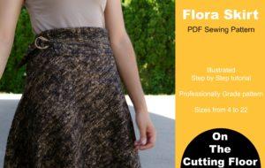 Flora skirt printable sewing pattern