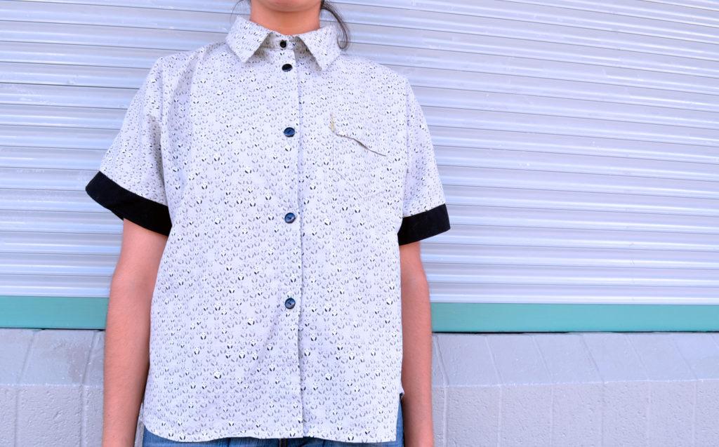 The Ashley Kimono Shirt and Dress PDF pattern