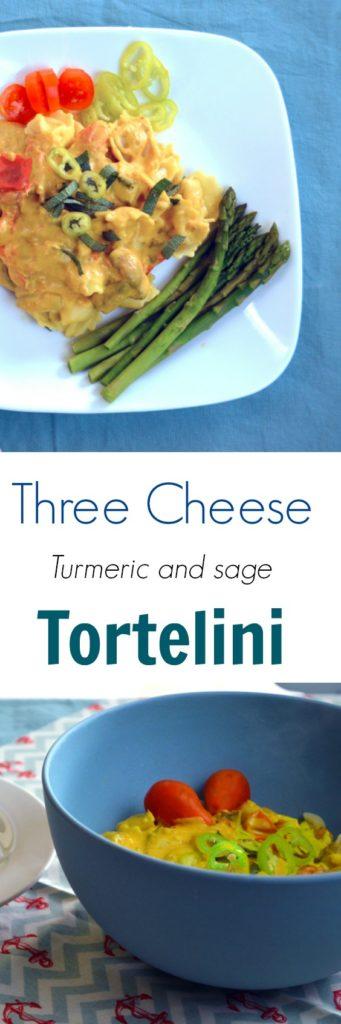 Three Cheese Turmeric and Cheese Tortellini