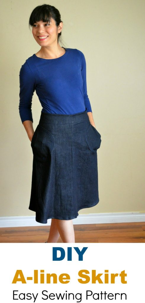 A Line Skirt Free Sewing Pattern On The Cutting Floor