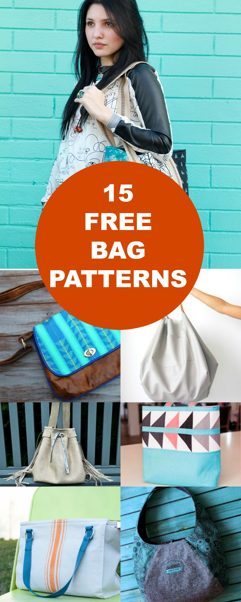 15 Free Bags Patterns On The Cutting Floor Printable