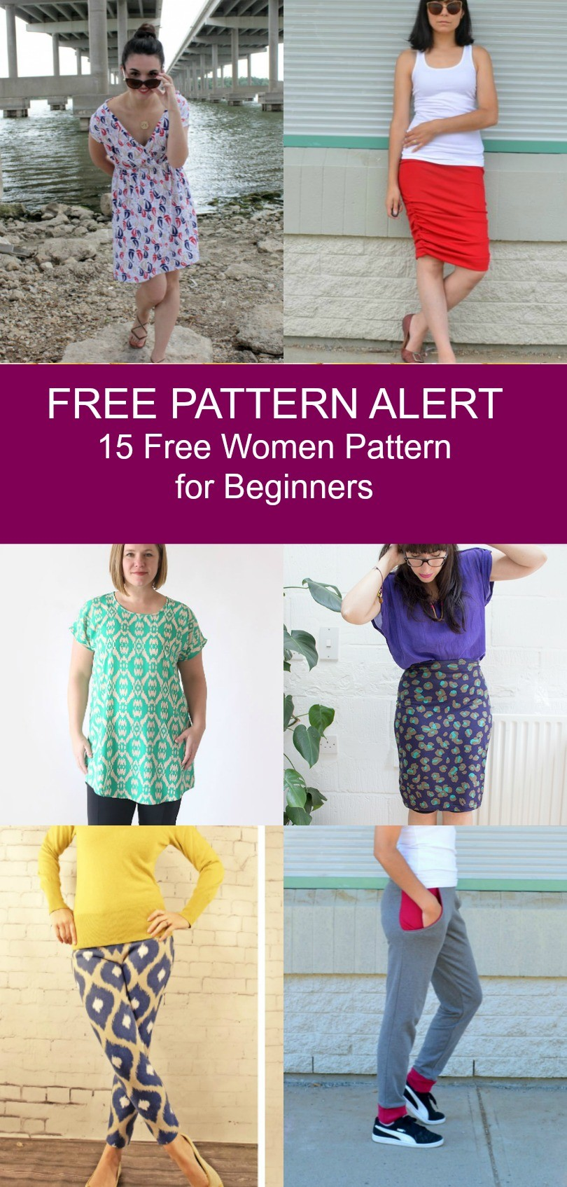 It is an image of Lively Printable Sewing Patterns for Beginners