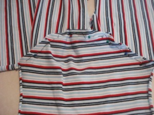 Open the t-shirt as shown in the picture and place the sleeve in the armhole. Pin and sew along - See more at: https://www.onthecuttingfloor.com/classic-30-minutes-t-shirt#sthash.8diMcilG.dpuf