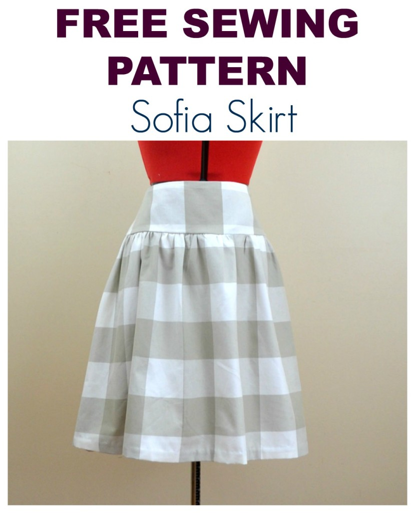 FREE SEWING PATTERN: THE SOFIA SKIRT | On the Cutting Floor ...