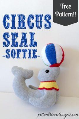 Circus Seal Softie Free Pattern