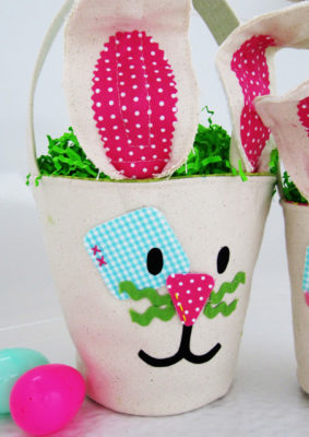Canvas Bunny Easter Buckets