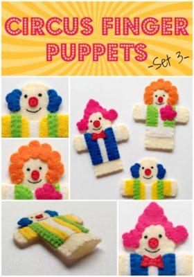 Circus Finger Puppets - Set 3 - Clowns