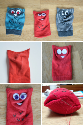 Sock Owl Collage
