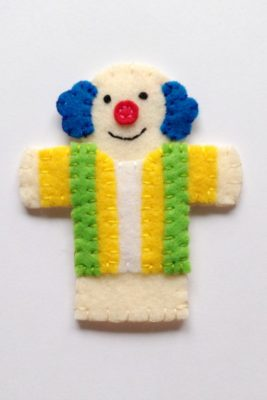 circus finger puppet - clown2