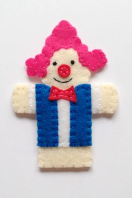 circus finger puppet - clown3