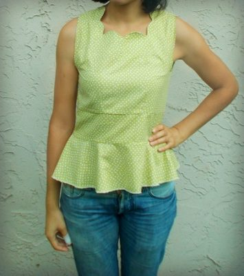 Free Sewing Pattern Scallop Top On The Cutting Floor Printable