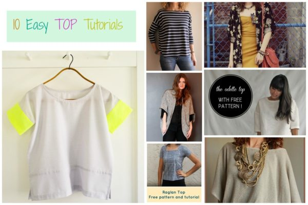 FREE SEWING PATTERNS: 10 Easy TOP Tutorials - On the Cutting Floor ...