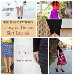 Free Sewing Patterns: 6 easy and trendy skirt tutorials