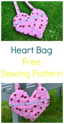 Free Sewing Tutorial A Heart Bag On The Cutting Floor