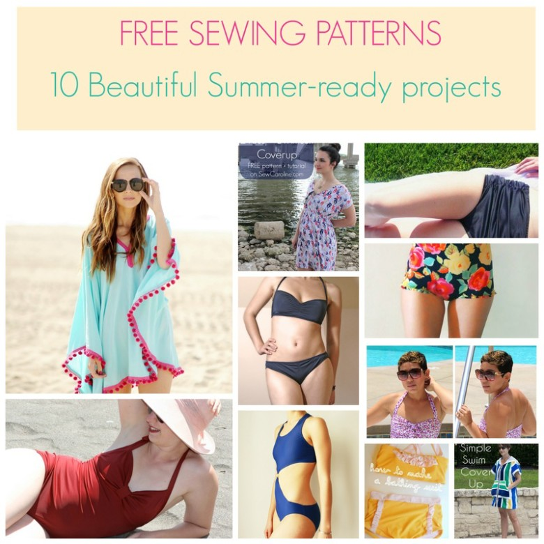 FREE SEWING PATTERNS 40 Beautiful Summerready Projects On The Impressive Swimsuit Patterns Free