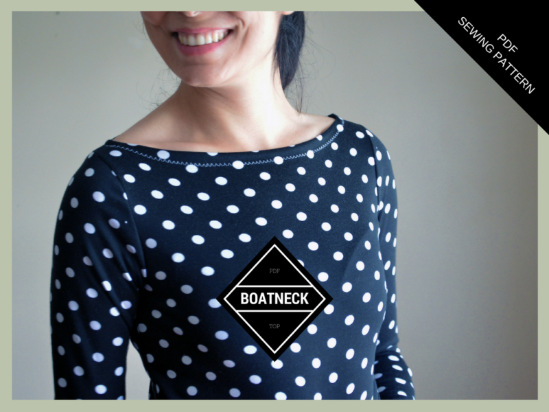 FULL PATTERN AND ILLUSTRATED TUTORIAL: the Boatneck top | On the ...