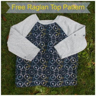 FREE SEWING PATTERN FOR KIDS: THE RAGLAN TOP