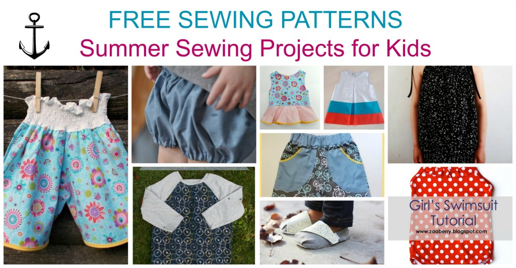 Free Sewing Patterns:  Easy projects for Kids Summer Outfits