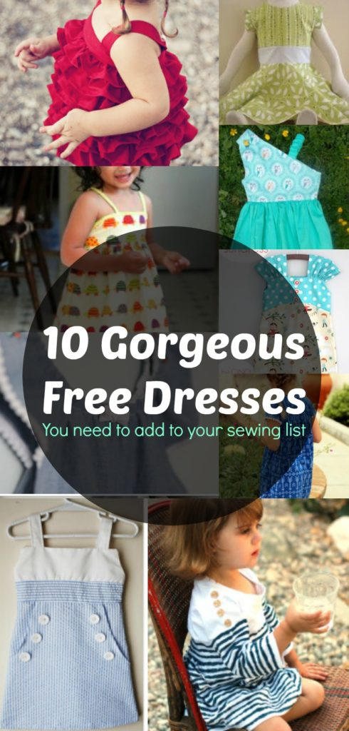 10 Gorgeous Free Girl Dress Patterns On The Cutting