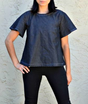 Flared sleeve free sewing pattern