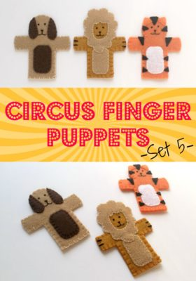 Circus Finger Puppets Set 5