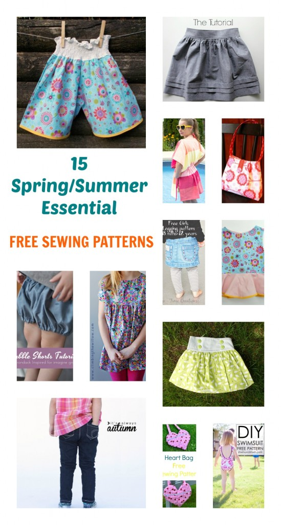 Free Sewing Pattern For Girls Springsummer Essentials On The