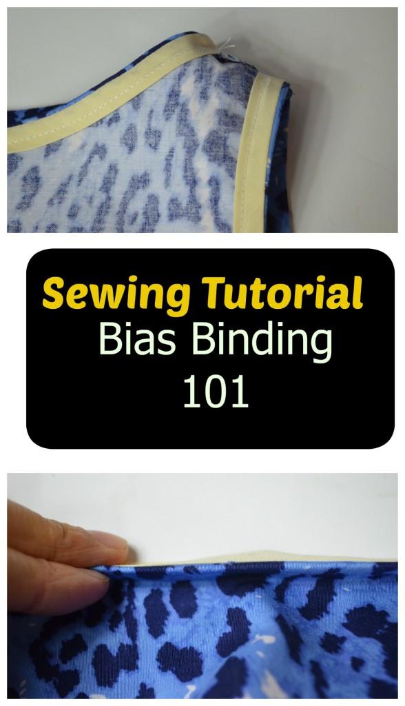 Sewing tutorial bias binding 101