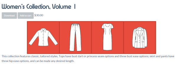 PatternMaker Tutorial:  How to use the women's collection