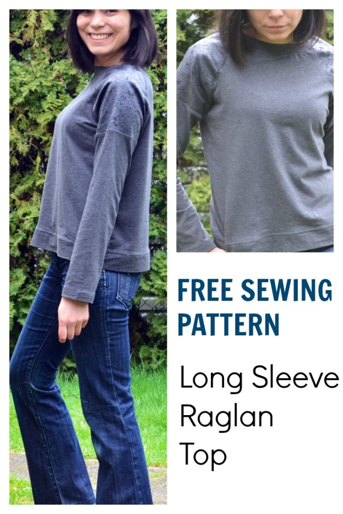 Free Sewing Pattern: Long Sleeve Raglan Top - On the Cutting Floor ...