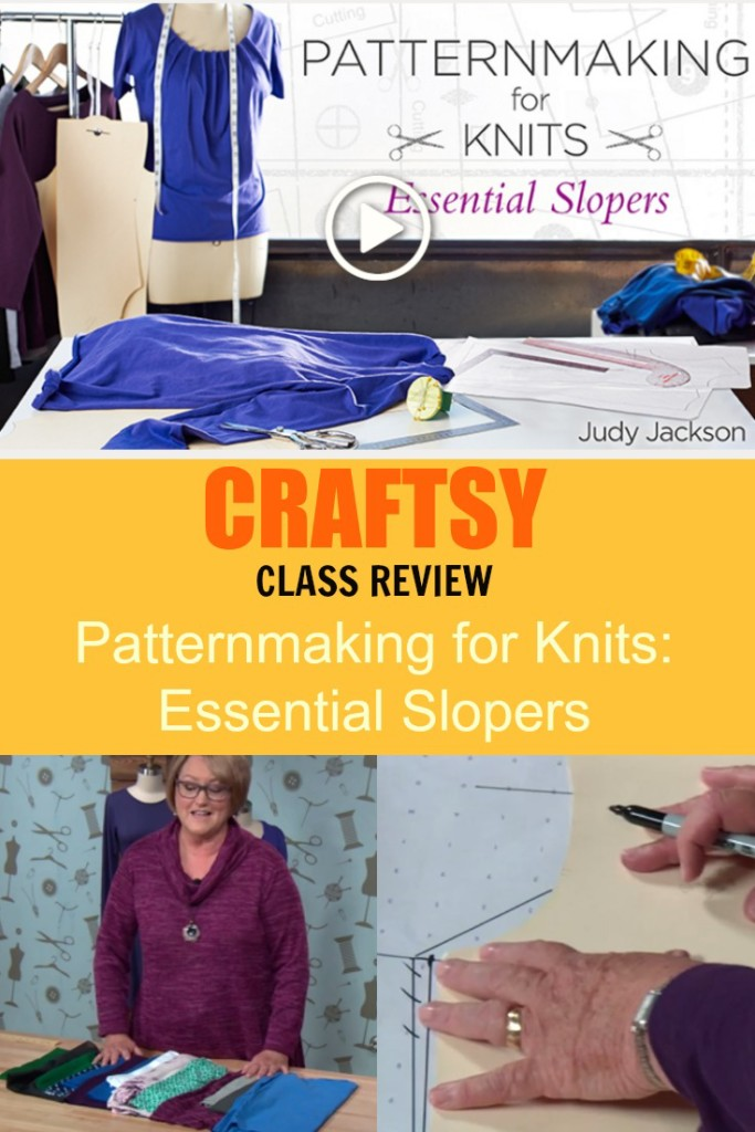 craftsy class review patternmaking for knits essential slopers
