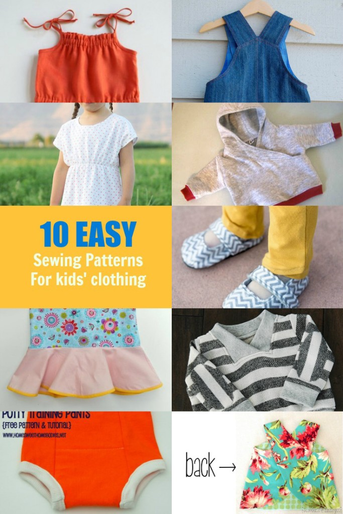 Kids Clothing Collection Free Sewing Patterns On The Cutting