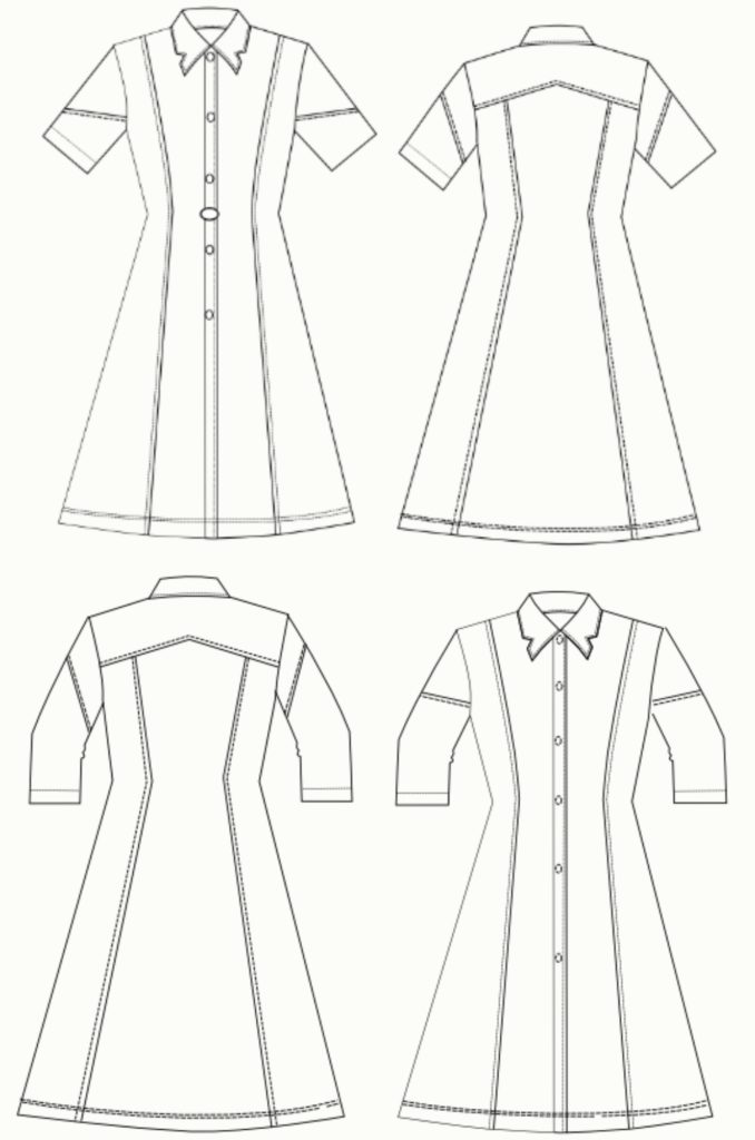 NEW PATTERN RELEASE: Adeline Dress shirt pattern