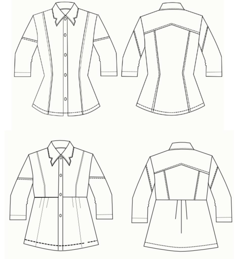 NEW PATTERN RELEASE: Adeline Dress shirt pattern