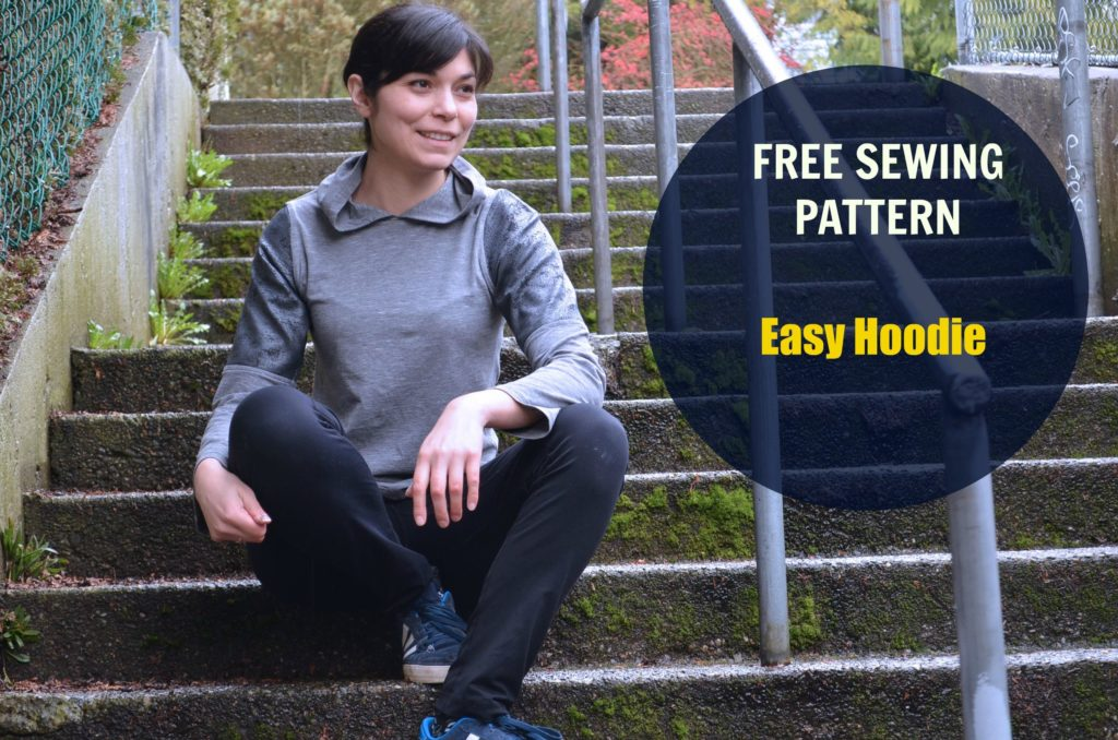 Free Sewing Pattern  Easy Hoodie - On the Cutting Floor  Printable ... cd7e821a7
