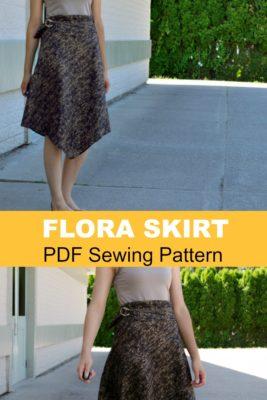 Flora skirt PDF sewing pattern