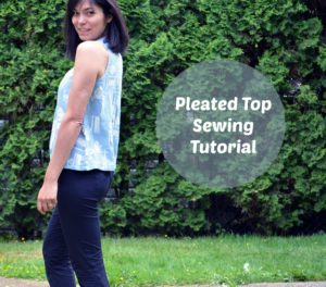 Pleated top sewing tutorial