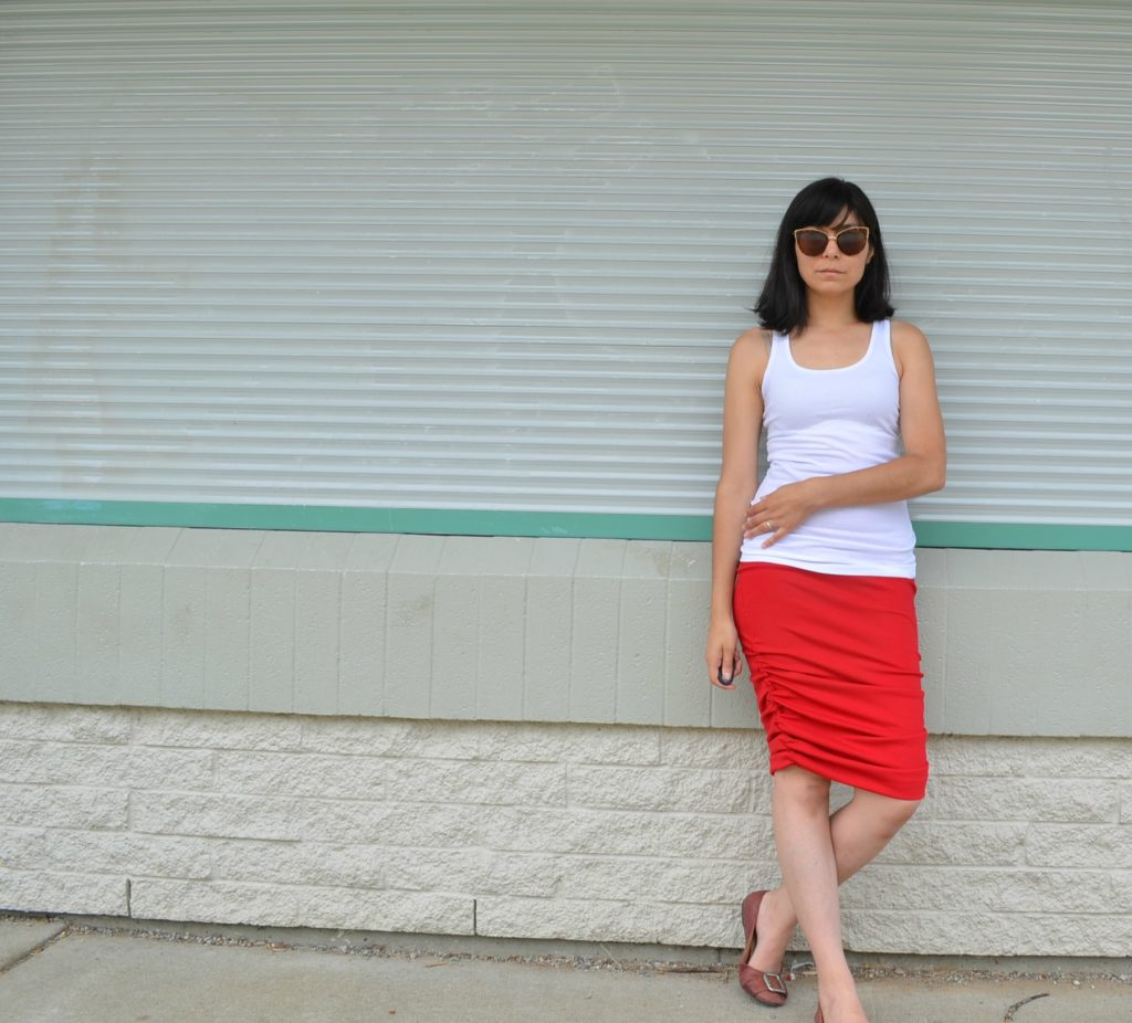 ruched skirt 1