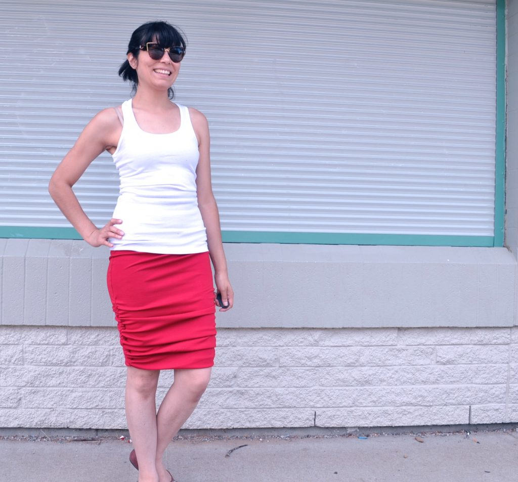 ruched skirt 2