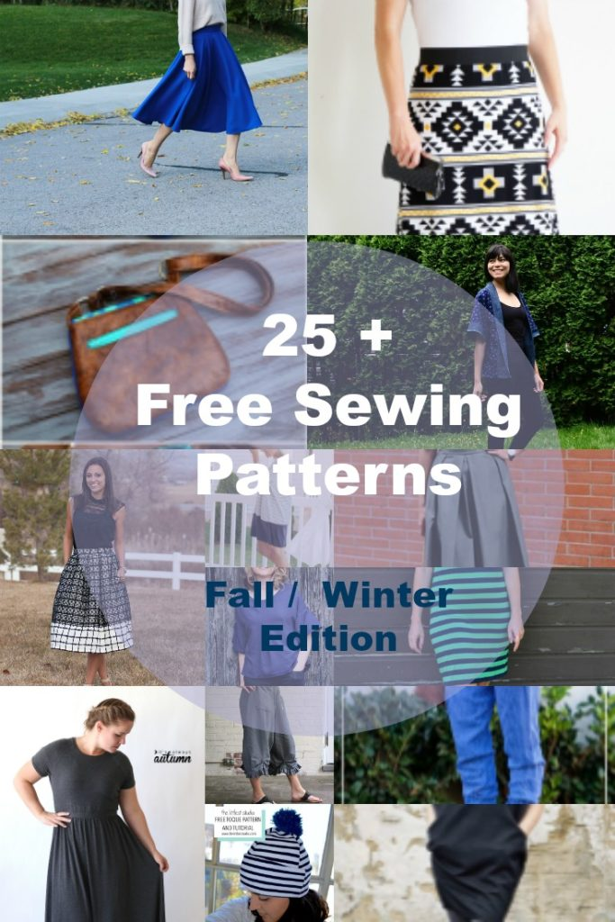 Free Sewing Patterns for Fall Winter Wardrobe - On the Cutting Floor ...
